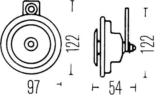 115dB A Color de carcasa gris HELLA 3AL 002 952-811 Bocina
