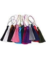 Toyvian 25pcs Ice Silk Tassels Hand-woven Chinese Tassels for DIY Crafts Making