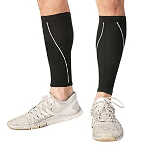 Calf Compression Sleeve - Leg Compression Socks for Shin Splint, & Calf Pain Relief - Men, Women, and Runners - Calf Guard for Running, Cycling, Maternity, Travel, Nurses (Small)