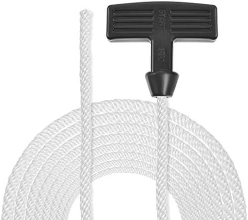 sourcing map 5Stk. Rückstoß Anlasser Seil mit Griff 6mm Dmr. 1,55m 5ft Nylon Zugschnur für 178F 186F Rasenmäher Trimmer Kettensäge Motor Teil