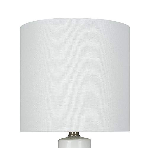 """Amazon Brand – Rivet Table Lamp with Textured Ceramic Base, Bulb Included, 20""""H, White"""