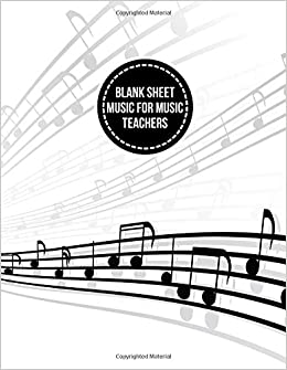 Amazoncom Blank Sheet Music For Music Teachers Workbook