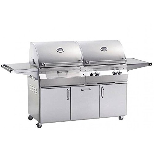 Fire Magic Aurora A830s Dual Propane Gas And Charcoal Combo Bbq Grill With Rotisserie On Cart - A830s-6eap-61-cb Fire Magic