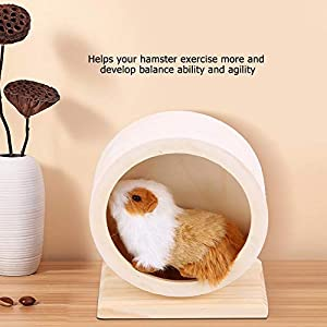 S Wooden Exercise Wheel Pets Funny Running Wheel Rest House Nest Play Toy for Gerbils Chinchillas Hedgehogs Mice Other Small Animals Hamster Wheel