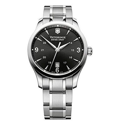 - Victorinox Swiss Army Men's 241473 Alliance Black Dial Stainless Steel Watch