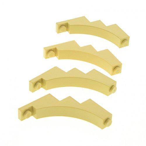 Lego Parts  Tan Brick  Arch 1 X 5 X 4 Inverted   X4 Loose