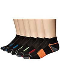 Fruit of the Loom Men's 6 Pack Sport Half Cushion Low Cut Socks With Tab