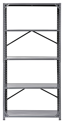 Edsal 7216H-17 Steel Commercial Shelving Unit, 36