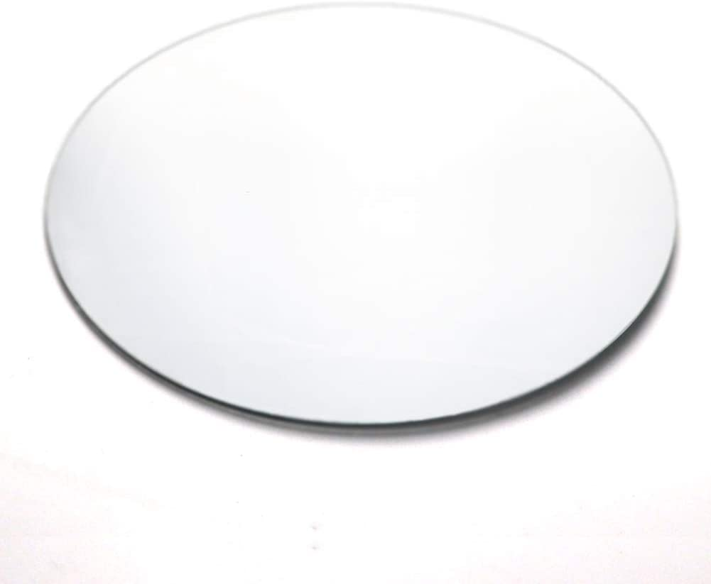 U HOME 12-inch Round Mirror Tray Set of 12, 2 mm Mirror Plate Table Centerpiece for Christmas, Wedding Decor