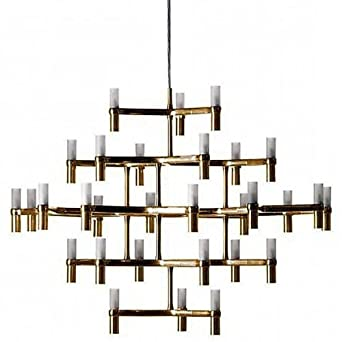 Gut Nemo Crown Major Kronleuchter, Gold Matt BxHxT 109x87x113cm 30 Lampen