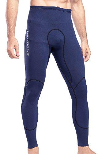 Paddling Suit (Langer Lifurious Men's 1.5mm Neoprene Long Wetsuit Pants Water Sports Scuba Diving Snorkeling Paddling Surfing Swimming Canoeing Leggings (Navy Blue, Large))