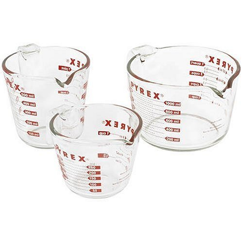 Pyrex Prepware 3-Piece Measuring Cup Set