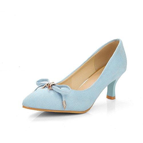 Balamasa Femmes Arcs Pointu-toe Sans Fermeture En Daim Pompes Chaussures  Lightblue 0a8aa33d5a38