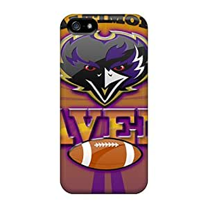 Defender Cases For Iphone 5/5s, Baltimore Ravens Pattern by mcsharks
