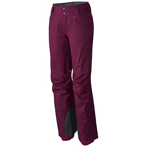 Mountain Hardwear Women's Snowburst Insulated Cargo Pants, Dark Raspberry, S Regular - Mountain Hardwear Fleece Pants
