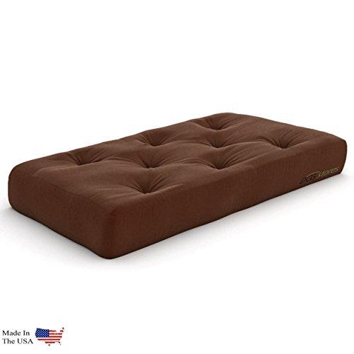 Extra Thick Premium 10-Inch Chair Futon Mattress, Microfiber Fudge - Made in USA ()