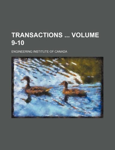 Download Transactions  Volume 9-10 pdf