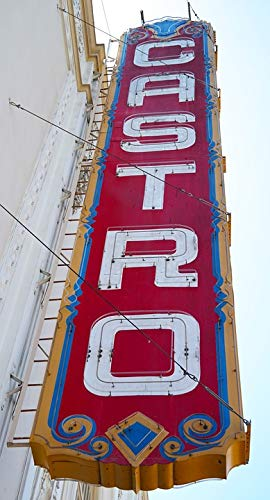 Home Comforts Framed Art for Your Wall Sign Castro Theater San Francisco USA Old Vivid Imagery 10 x 13 ()