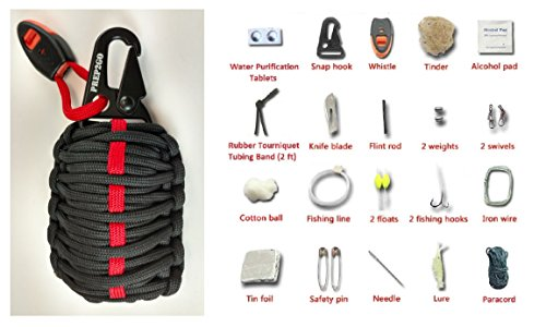 Atv Box Scraper (Paracord Survival Grenade Kit (28pc) Ultimate Wilderness Military Grade Prepper Gear--Water Purification Tabs--Camping Hiking Hunting--Moms Feel Safe! Your Kids can get Food, Fire & Shelter When Lost)