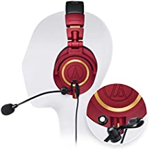 Audio-Technica ATH-M50xRD Professional Studio Headphones -INCLUDES- Antlion Audio ModMic 4 Uni-Directional Attachable Boom Mic w/ Mute Switch + Y Splitter - LIMITED EDITION GAMING BUNDLE