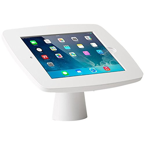 Tryten iPad 9.7 Kiosk - Anti-Theft Security Wall Mount/Desk Mount - Cables are concealed inside, Polycarbonate / Steel - Access to home button & front camera - White