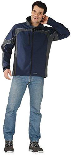 PLANAM veste softshell dame-summit-résiste à l'eau et au vent-bleu/gris-taille s: s (bleu marine/gris