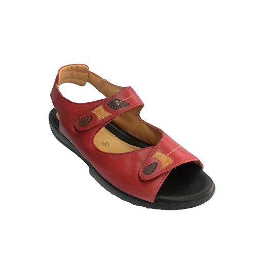 Spongieuse Velcro Doctor Femme Avec En Très Cutillas Sandale Sol Rouge Confortable qOqCwgpYxT