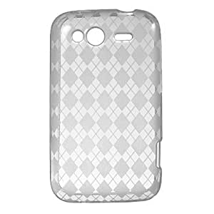 Clear Checker TPU Protector Case for HTC Wildfire S