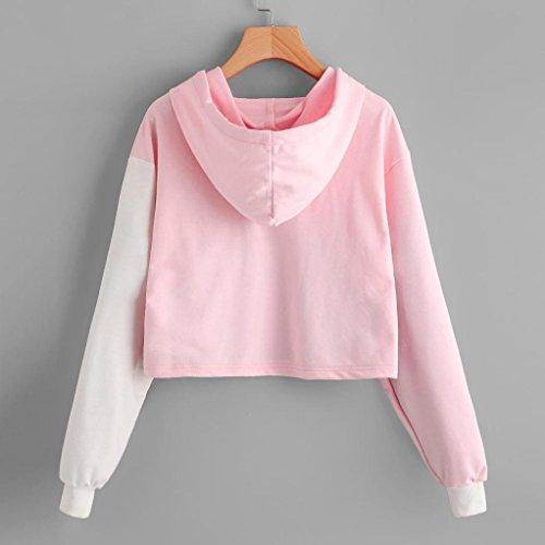 Overdose Magliette shirt Camicetta Donna Rosa Maglie Con Cappuccio T Felpe nnxgP6HfB