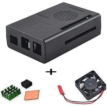 Makerfire Raspberry Pi B+ Case Protective Case Enclosure Box with Mini Cooling Fan Heatsink Kit