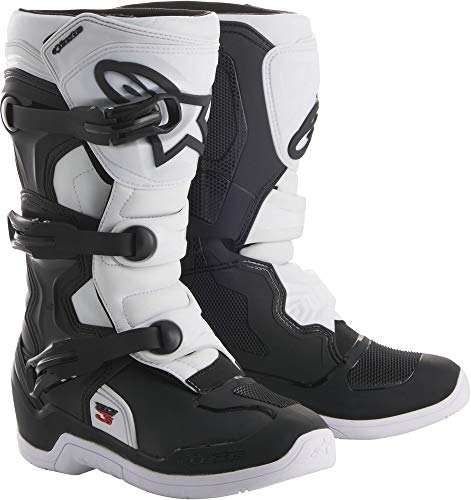 (Alpinestars Youth Tech 3S Kids Boots-Black/White-Y1)