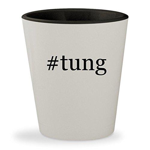 #tung - Hashtag White Outer & Black Inner Ceramic 1.5oz Shot Glass Rejuv Oil