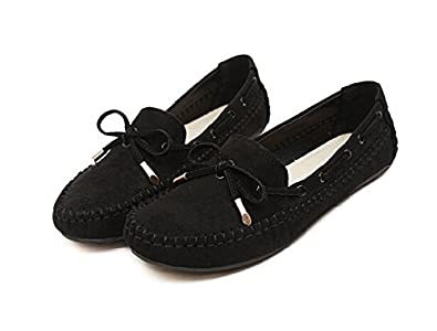 Women Bowtie Loafers Flat Shoes