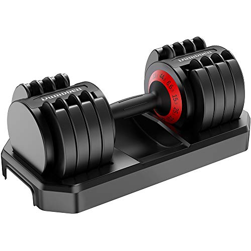 44 lbs Adjustable Dumbbell with Fast Automatic Adjustable Weights for Body Workout Home Gym