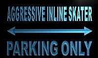 ADV PRO m132-b Aggressive inline skater Parking Only Neon Sign Barlicht...