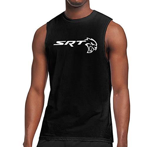 - Arilce Tank Tops SRT Demon and Sportscat Hellcat Sleeveless Vest T Shirt Black L