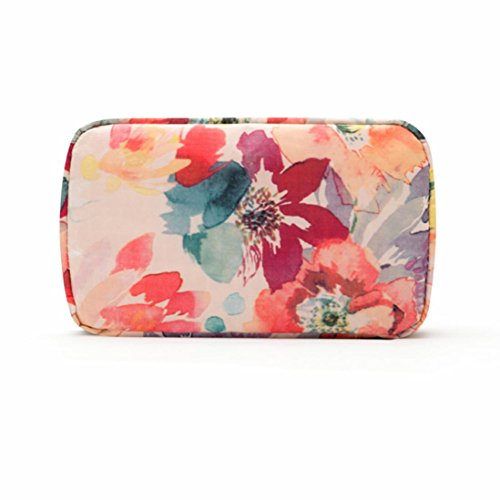 Mini Makeup Bag, Portable Beauty Travel Cosmetic Case Toiletry Bag Waterproof Organizer Holder (Pink)