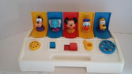 Vintage Poppin Pals Pop Up Toy Child Guidance Playskool Disney Characters (Character Pop Up)