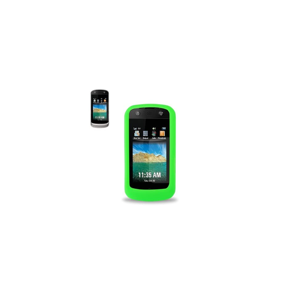 Fashionable Perfect Fit Soft Silicon Gel Protector Skin Cover (Faceplate/Snap On) Rubber Cell Phone Case for Motorola Crush W835 U.S. Cellular   GREEN