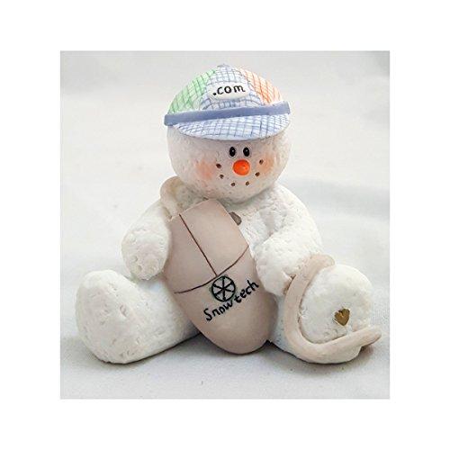 "1998 Sarah's Attic Snowonders Christmas ""Dot Com"" Snowman Figurine"