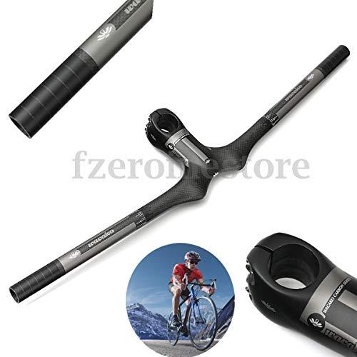 - FidgetGear Carbon 3K MTB Matt Flat Handlebars Road Mountain Bicycle Integrated Bars Stems 600MM