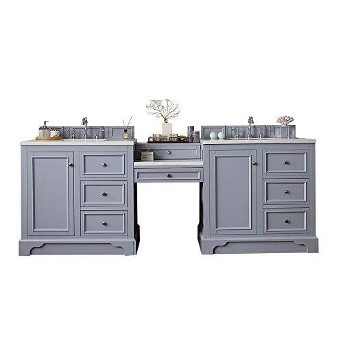 - 94 in. Double Vanity Set in Silver Gray