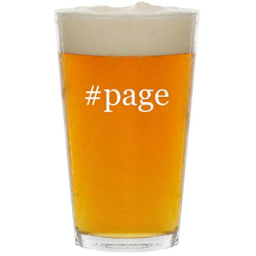 #page - Glass Hashtag 16oz Beer ()