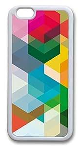 iphone 6 plus 5.5inch Case and Cover Block TPU Silicone Rubber Case Cover for iphone 6 plus 5.5inch White