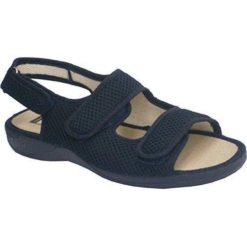 Ouvrir orteils et des talons chaussures Broche deux bandes Velcro sur le cou et une arrière Calzamur en bleu marine