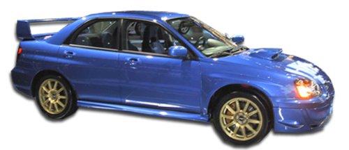 Duraflex ED-VZA-004 STI Look Side Skirts Rocker Panels - 2 Piece Body Kit - Compatible For Subaru Impreza 2002-2007