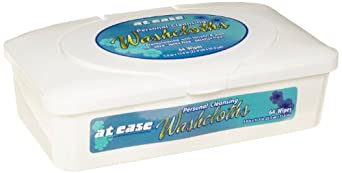 Hospeco HS-3864 At Ease Pre-Moistened Wipes Tub (8 Packs of 64)