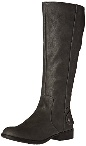 Womens Toe High Knee Grey Fashion Boots Dark Xandy Closed LifeStride fUwqZFdf