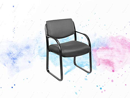 GUPLUS-Fabric Guest Chair, Grey Passive Ergonomic Seating with Built in Lumber Support Upright Locking Position Adjustable tilt Tension Control Available in Two Fabric Colors (Tilt Control Tension)