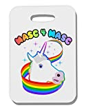 TooLoud Masc 4 Masc Pranciful Unicorn Thick Plastic Luggage Tag